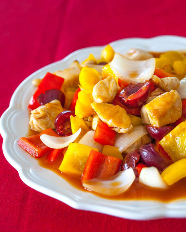 Sweet Sour Chicken with Cherry