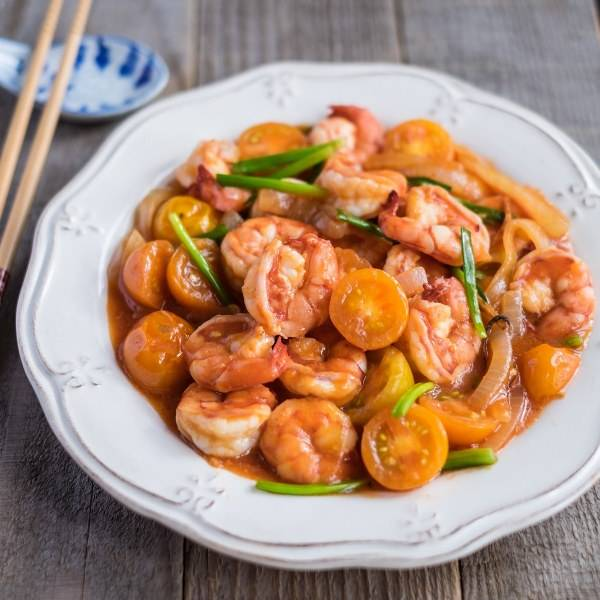 Chinese Style Sweet and Sour Shrimps